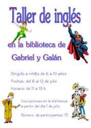 Taller de inglés con nativa para niñ@s de 6 a 10 años
